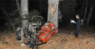 Traktör 100 metrelik uçuruma yuvarlandı: 2 ölü