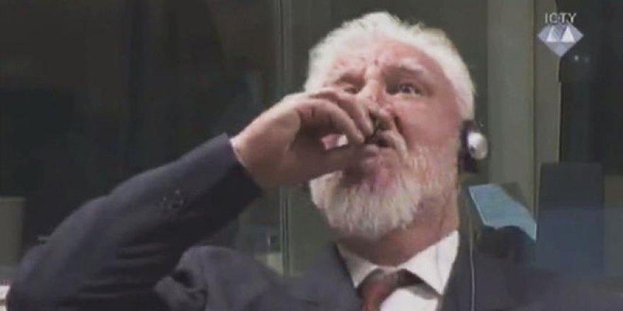 'Eski Hırvat General duruşmada zehir içti' iddiası