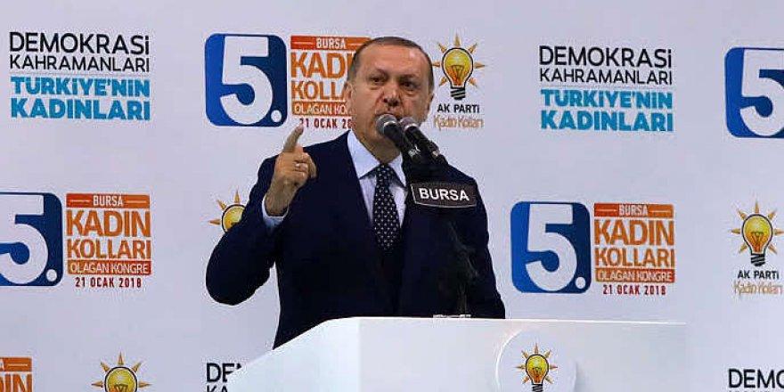 Erdoğan: 'Karşımıza kim çıkarsa çıksın ezer geçeriz'