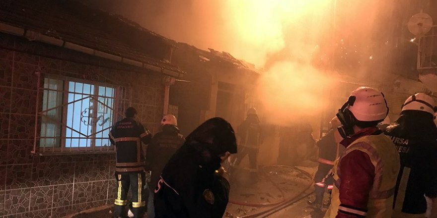 Bursa'da tüp bomba gibi patladı: 1 yaralı