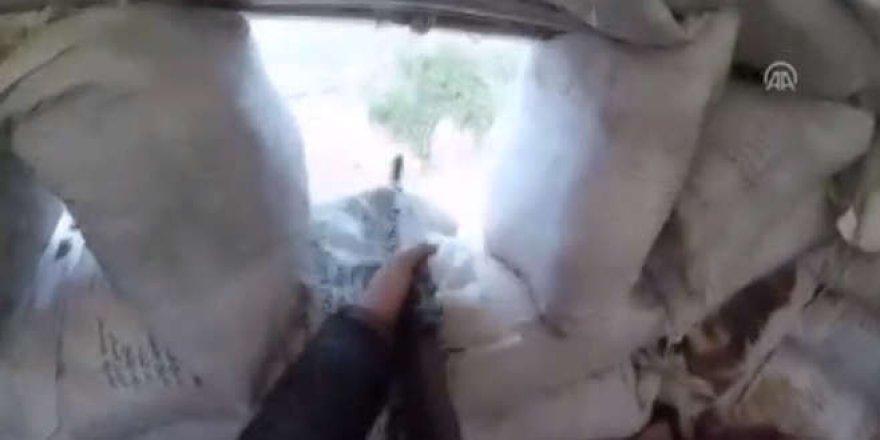 Afrin'deki sıcak çatışma saniye saniye görüntülendi