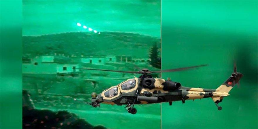 ATAK helikopterleri Afrin'de teröristlere ölüm yağdırdı