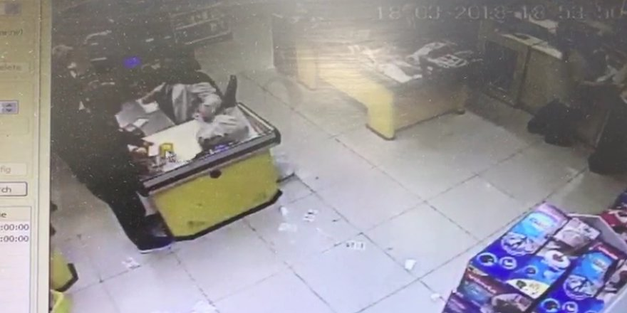 Marketteki hırsızlık böyle görüntülendi