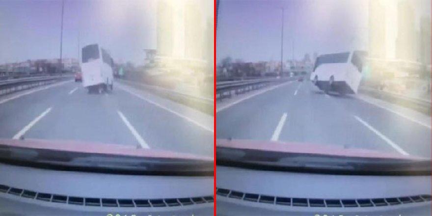 8 polisin yaralandığı kaza kamerada