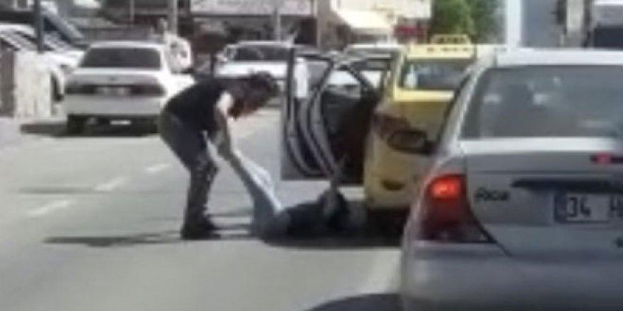 Taksici dehşeti kamerada