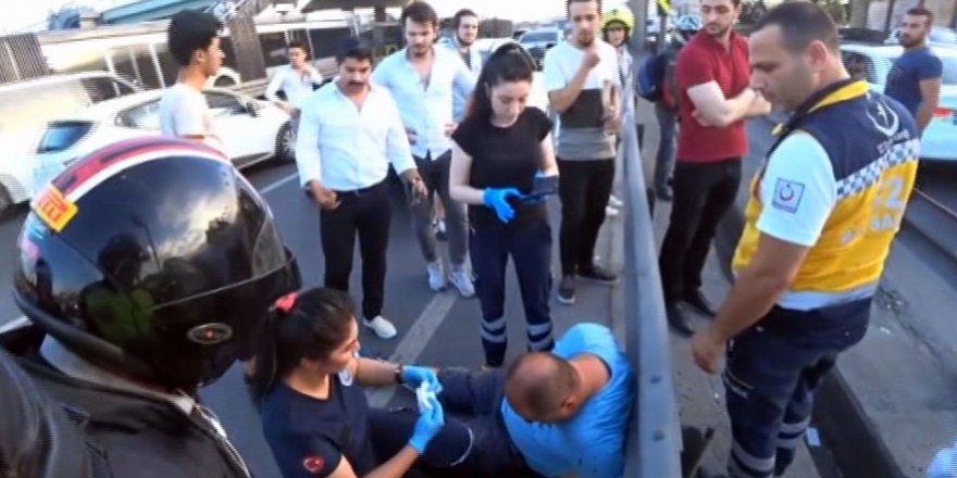 Pompalı tüfekli magandalar çekici sürücüsüne saldırdı
