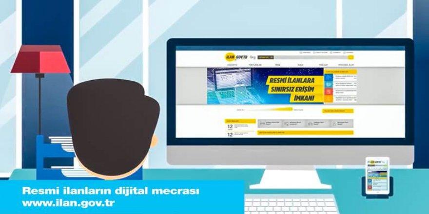Resmi ilanların dijital mecrasıwww.ilan.gov.tr