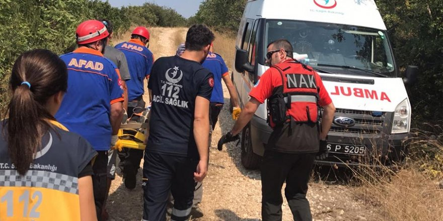 Bursa'da yamaç paraşütü sert iniş yaptı: 1 yaralı