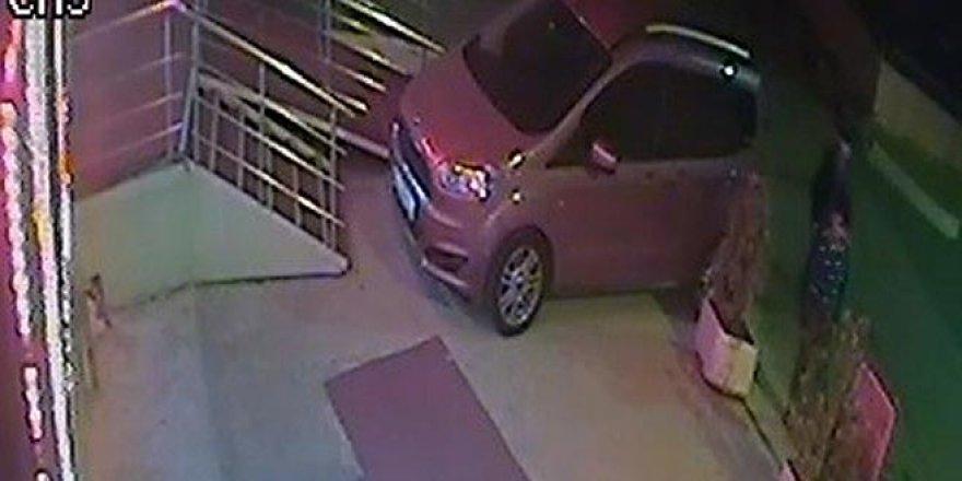 Duba hırsızları kameralara yakalandı