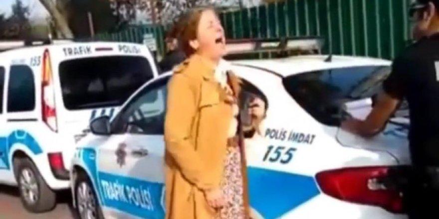 Trafik cezası kesilen öğretmen, çığlık atarak kendinden geçti