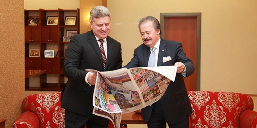 Makedonya Cumhurbaşkanı'ndanÇağlar'a anlamlı ziyaret
