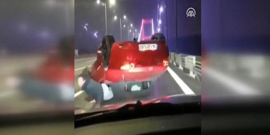 Trafikte makas atarken canından oluyordu