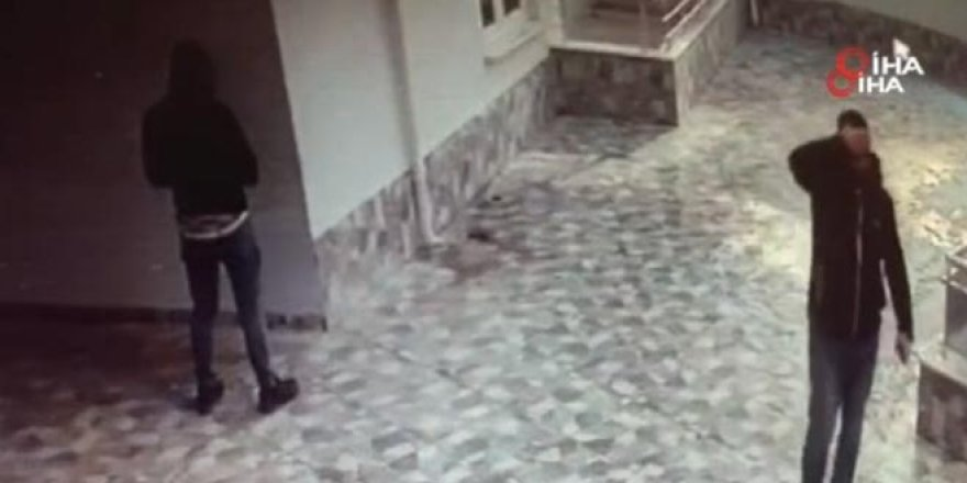 Diyafon hırsızları yakayı ele verdi