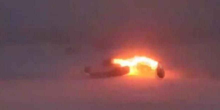 Düşen Rus uçağının görüntüleri ortaya çıktı