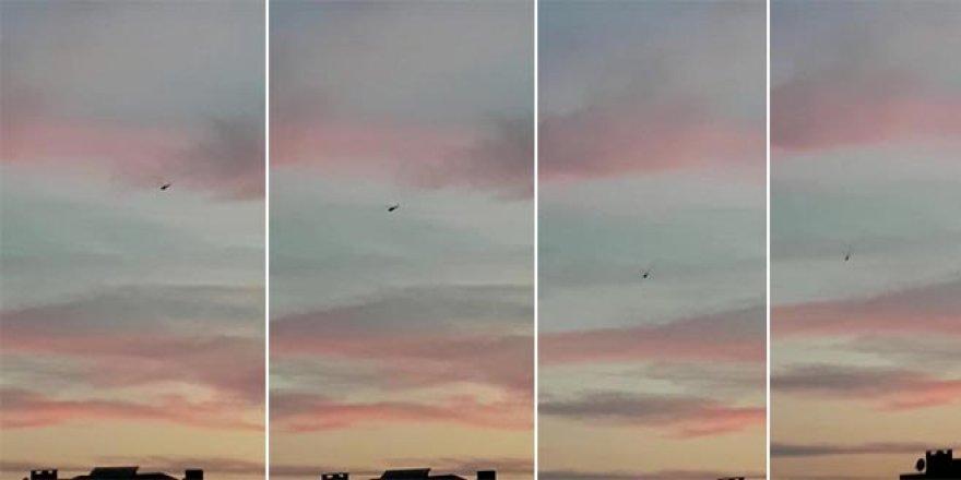 Askeri helikopterin düşme anı kamerada