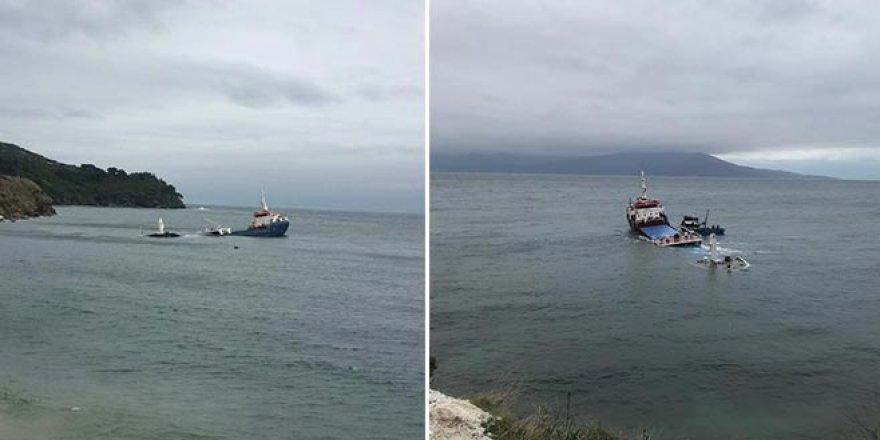 Balıkesir Marmara Adası açıklarında kuru yük gemisi battı
