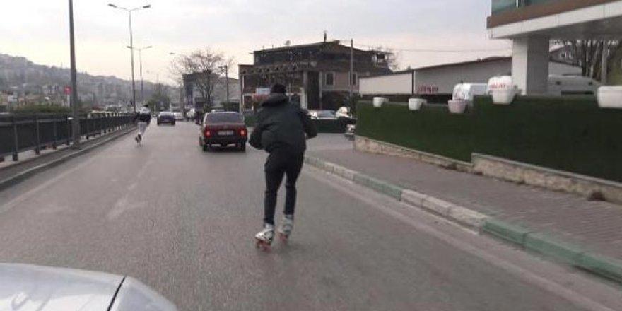 Patenli gençlerin trafikte tehlikeli yolculuğu