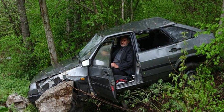 Kazadan sonra şoka girdi