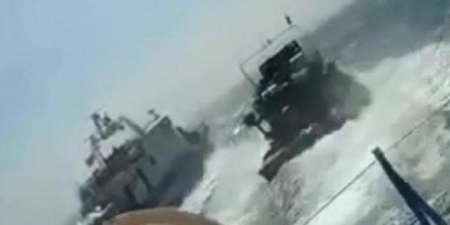 Türk balıkçılara açılan ateşin görüntüleri ortaya çıktı