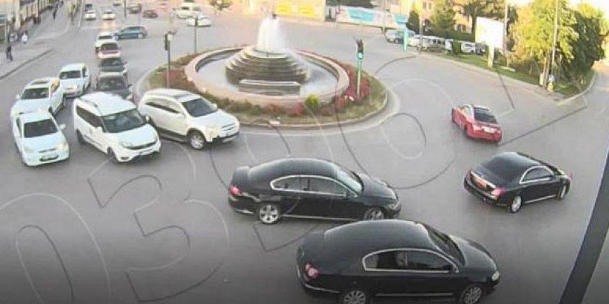 Valinin makam aracının yanında 'drift'