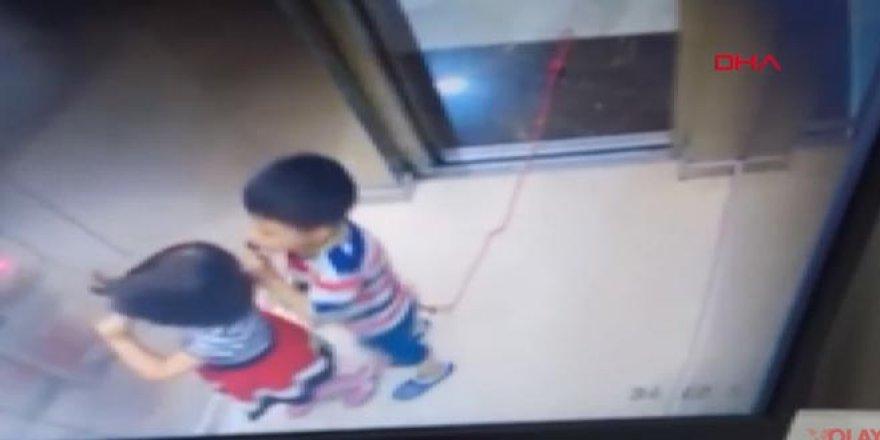 Asansörde dehşet: Boynundaki ipte asılı kaldı