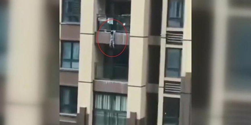 6. kattan düşen çocuğun mucize kurtuluşu