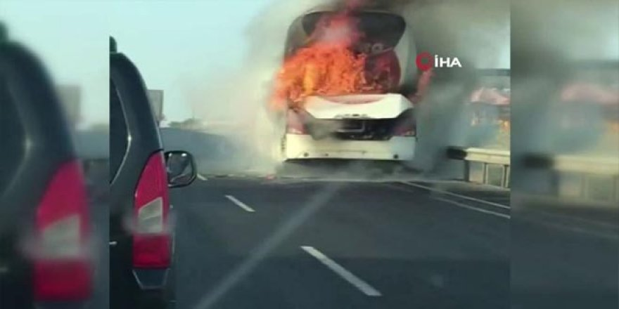 Bir otobüs yangını daha