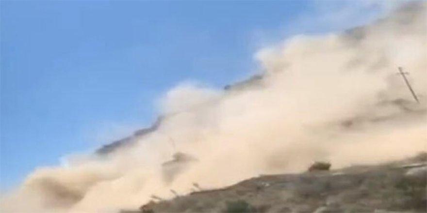 Denizli'de deprem sonrası ürküten görüntü