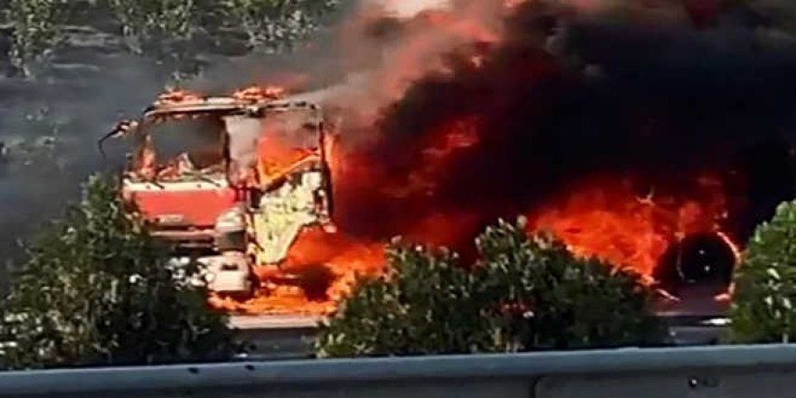 Bursa'da panik anları! Alev alev yandı