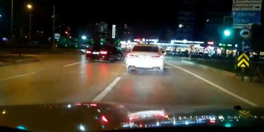 Drift yapan sürücüler polisten kaçamadı