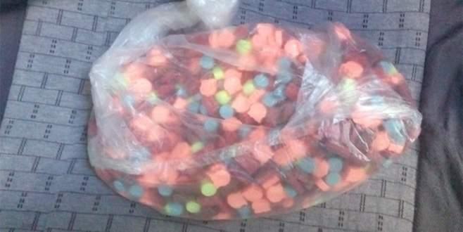 Tekirdağ'da bir otomobilde uyuşturucu hap ele geçirildi