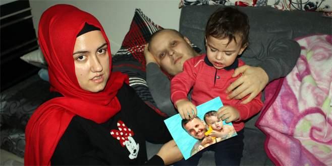 Akciğer kanseri genç baba, iyileşmesi için gerekli olan ilacı alamıyor