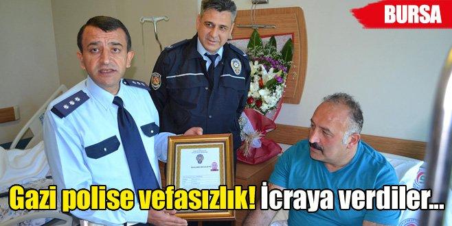 Gazi polise vefasızlık!