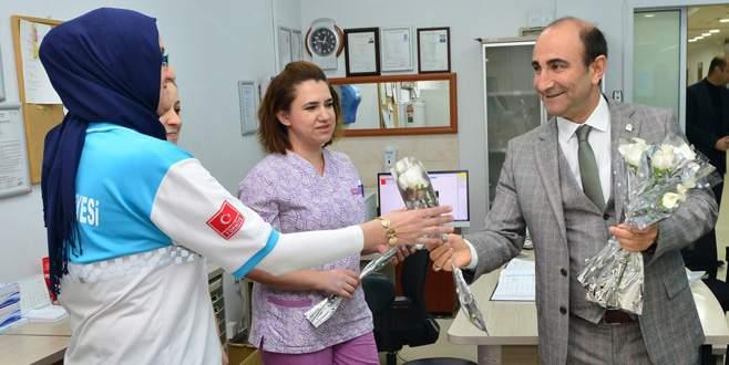 Edebali'den sağlık çalışanlarına ziyaret