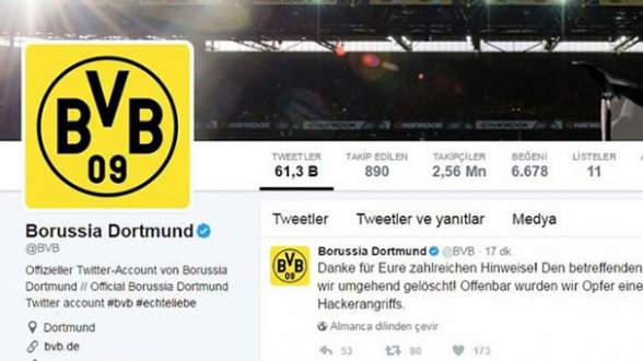 Dortmund'un Twitter hesabı hacklendi