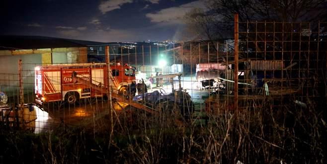 İşçilerin kaldığı konteynerde yangın: 1 ölü, 1 yaralı