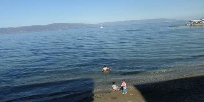 Mart ayında Bursalıların deniz keyfi