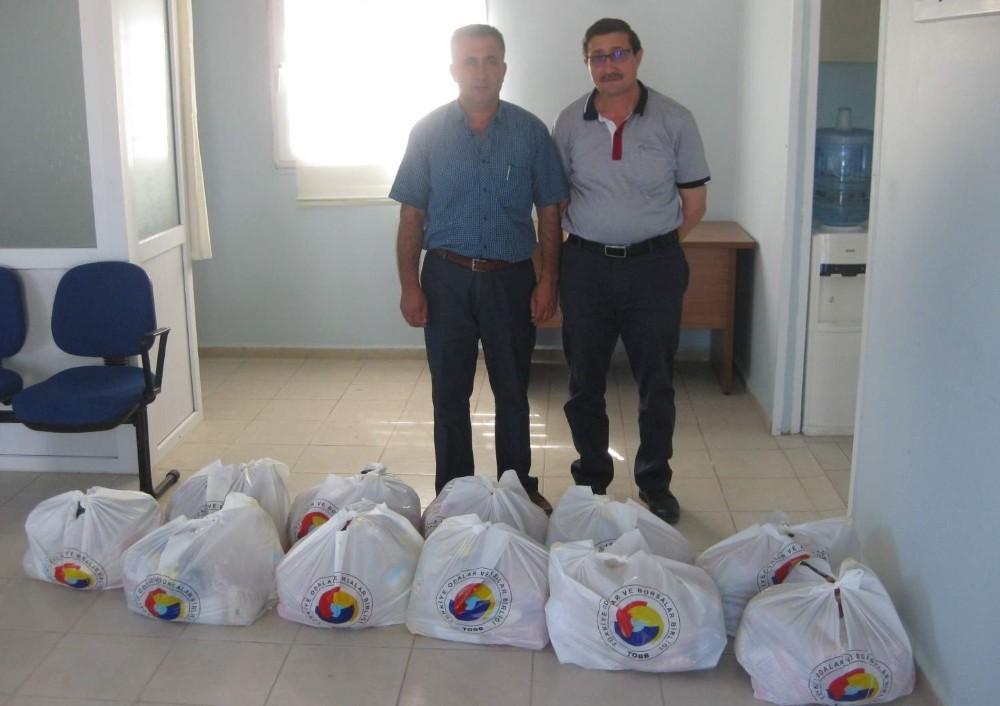 Didim Ticaret Odasının gıda yardımları ihtiyaç sahiplerine ulaştırıldı