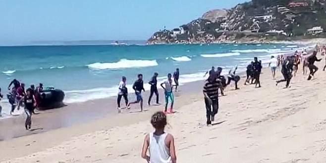 Sığınmacılar tatilcileri korkuttu