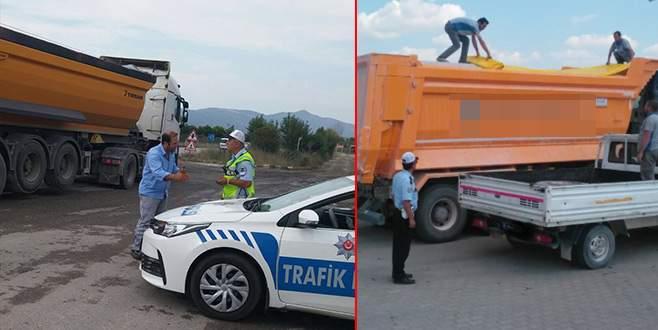 Bursa'da hafriyat kamyonları sıkı takipte
