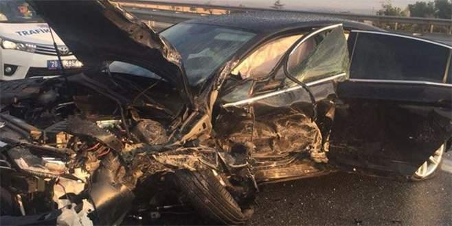 MHP'li Demirel kazada yaralandı