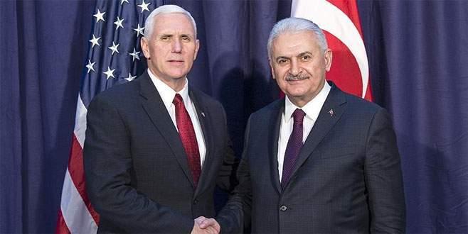 Başbakan Yıldırım ile Pence bir araya geldi