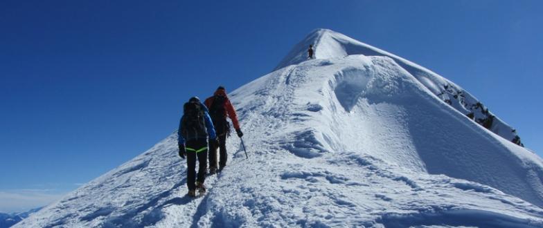 Bursalı dağcılar Alplerin zirvesinde