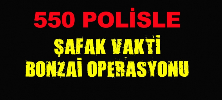 Bursa`da 550 polisle şafak vakti bonzai operasyonu