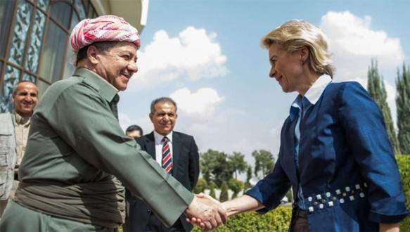 Alman savunma bakanı Erbil`de