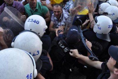 Bursa`da protesto yürüyüşünde arbede