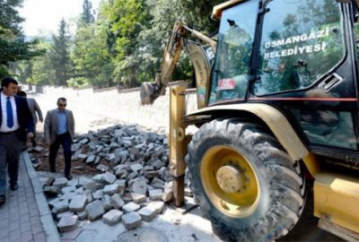Selden zarar gören asfalt yenileniyor