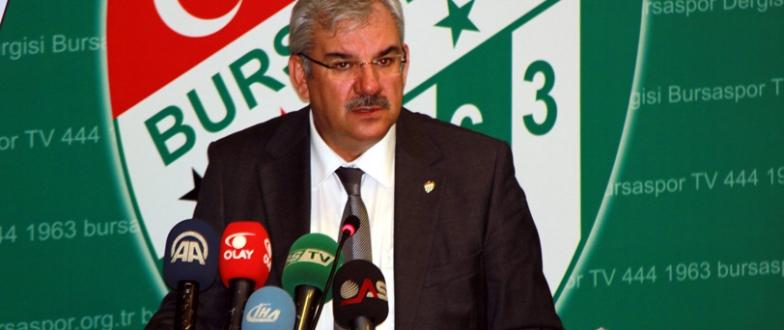 Başkan Bölükbaşı Bursaspor`un borcunu açıkladı