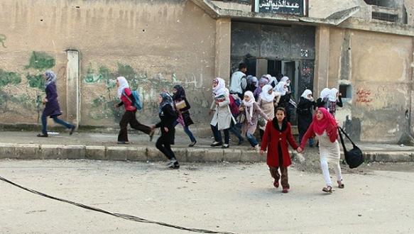 Şam`da okula havan topu saldırısı: 12 ölü