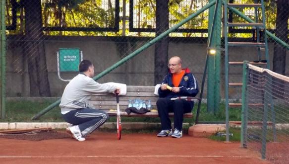 Bakan Şimşek`in tenis keyfi